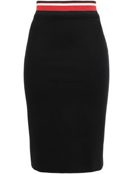 Zip Detailed Jersey Pencil Skirt by Mugler