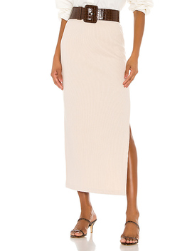 The Mia Midi Skirt In Cream by L'academie