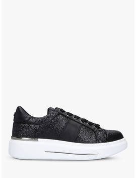 Carvela Jubilate Glitter Lace Up Chunky Trainers, Black by Carvela