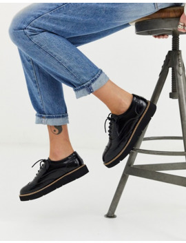 London Rebel   Brogues Met Dikke Zool En Veters In Zwart by Asos