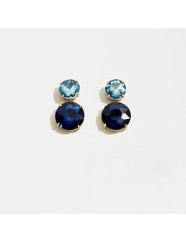 two-gem-drop-earrings by jcrew