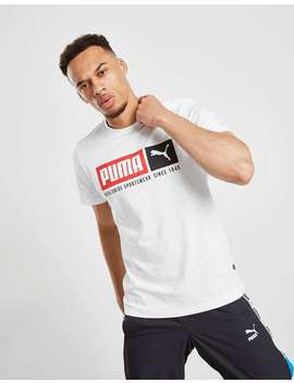 Puma Box Logo T Shirt by Jd Sports