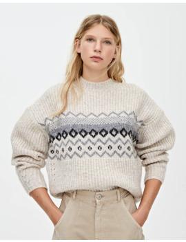 Sweater Em Jacquard De Remoinho by Pull & Bear