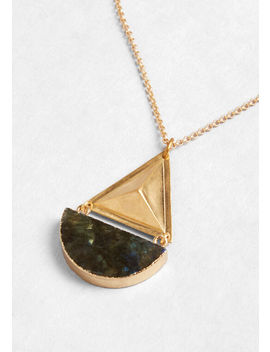 Half Moon Rising Pendant Necklace by Larissa Loden