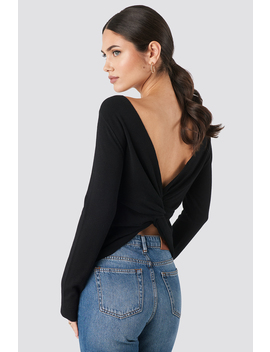 Back Cross Knitted Sweater Black by Na Kd