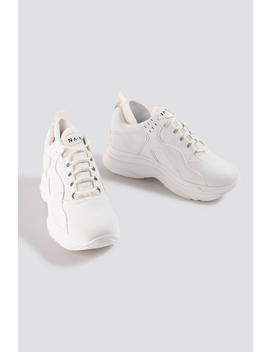 Sporty Faux Suede Sneakers Blanc by Na Kd Shoes