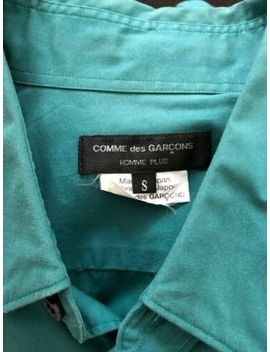Comme Des Garcons Homme Plus   Classic Green Dagger Collar Shirt   Size Small by Comme Des Garcons