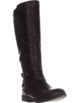 Womens Sc35 Madixe Wide Calf Riding Boots, Black by Sc35