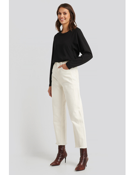 High Waist Barrel Leg Jeans White by Na Kd