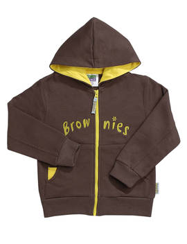 Brownies Uniform Hooded Zipped Top, Brown by Brownies