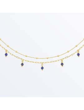 Lapis Lazuli Chain     Michelle Anklet              Regular Price      €‌54 by Ana Luisa