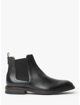John Lewis & Partners Clarence Leather Chelsea Boots, Black by John Lewis & Partners