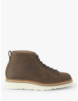 John Lewis & Partners Definitive Leather Welted Roofer Boots, Brown by John Lewis & Partners