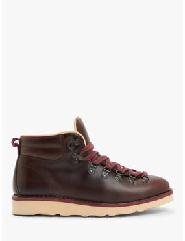 John Lewis & Partners Definitive Leather Hiker Boots, Brown by John Lewis & Partners
