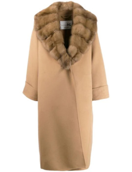 Faux Fur Lined Coat by Manzoni 24