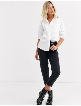 New Look – Hemd Mit Taschen Und Knopfleiste In Weiß by Asos