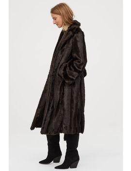 Długi Płaszcz Z Imitacji Futra by H&M