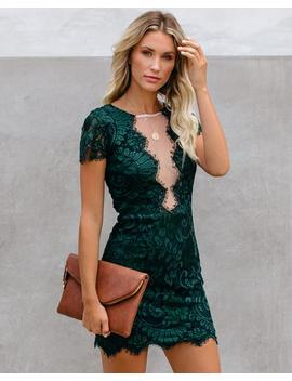 Beyond Words Lace Dress   Green   Final Sale by Vici
