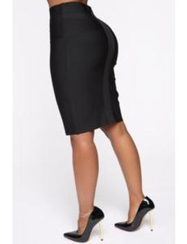 Office Romance Bandage Mini Skirt   Black by Fashion Nova
