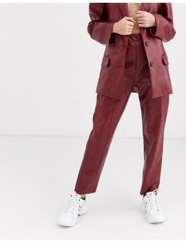 Asos Design   Costume En Imitation Cuir   Rouge by Asos Brand