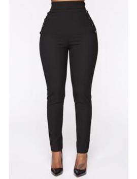 Benjamin Button High Rise Skinny Pants   Black by Fashion Nova