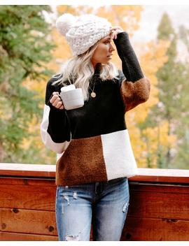 Join Hands Colorblock Mock Neck Sweater by Vici