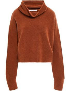 Brushed Wool Blend Turtleneck Sweater by Alexanderwang.T