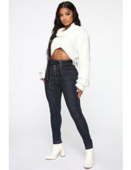 Can't Tie Me Down High Rise Jeans   Dark Denim by Fashion Nova