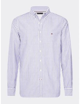 Slim Fit Hemd Mit Struktur Streifen by Tommy Hilfiger