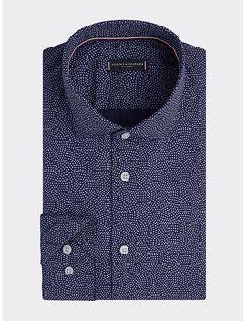 Geometrisch Gepunktetes Slim Fit Hemd by Tommy Hilfiger