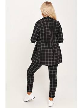 Black Check Print Blazer by I Saw It First