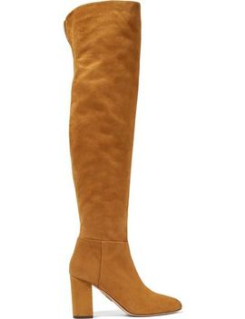 London Suede Over The Knee Boots by Aquazzura