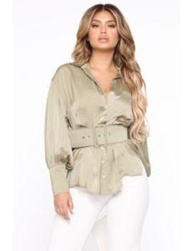 on-a-simple-day-belted-shirt---olive by fashion-nova