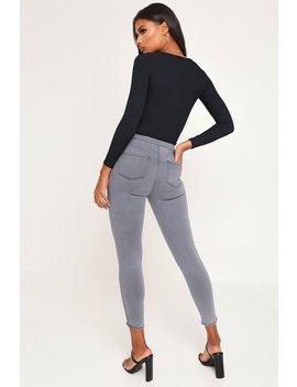 Grey Grey Skinny Distressed Jeans by I Saw It First