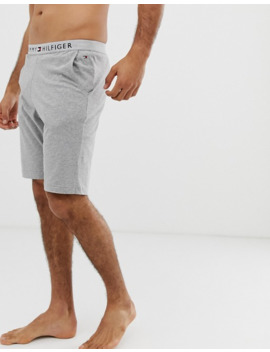 Tommy Hilfiger Lounge Short With Comfort Logo Waistband In Grey by Tommy Hilfiger