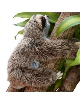 Au Sloth Plush Animals Critters Lying Three Toed Cuddly Soft Stuffed Toy Teddy by Unbranded