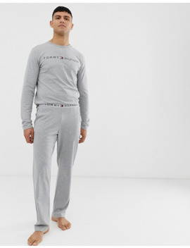 Tommy Hilfiger Lounge Jogger With Comfort Logo Waistband In Grey by Tommy Hilfiger