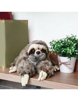 35cm Sloth Plush Animals Critters Lying Three Toed Cuddly Soft Stuffed Toy Teddy by Unbranded