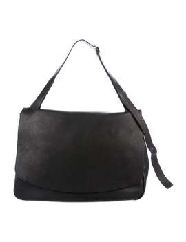 Large Leather Mail Messenger Bag by The Row