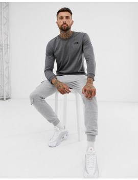 The North Face Simple Dome Long Sleeve T Shirt In Grey by The North Face