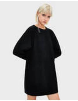 Krótka Sukienka Z Prążkowanego Materiału by Bershka