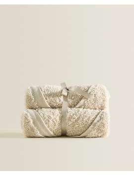 Ecologically Grown Cotton Towel (Pack Of 3) Towels   Bathroom by Zara Home