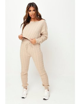 Stone Knitted Loungewear Set by I Saw It First