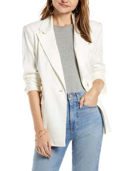 Oversize Linen Blend Blazer (Nordstrom Exclusive) by Something Navy