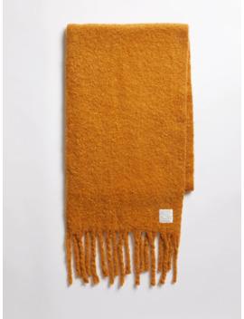 Fuzzy Scarf In Honey Ginger by Frank & Oak
