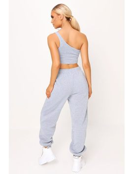Grey Crop Top And Joggers Loungewear Set by I Saw It First