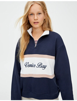 Colour Block 'Venice Bay' Sweatshirt by Pull & Bear