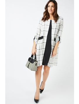 Oversized Checkered Smock Dress by Everything5 Pounds
