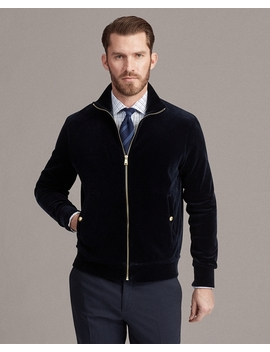 Velour Track Jacket by Ralph Lauren