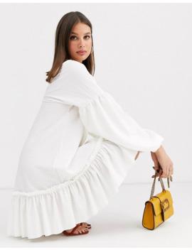 Asos Design Tall   Robe Babydoll Texturée à Ourlet Volanté by Asos Design